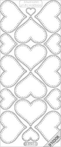 stickerbogen bord rensticker herzen silber basteln sie mit. Black Bedroom Furniture Sets. Home Design Ideas