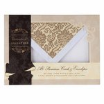 A6 PMA Signature Cards And Envelopes 10 Pack - White And Gold - (PMA 1513900)