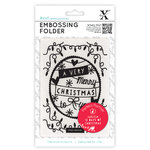 A6 Embossing Folder - 12 Days of Christmas - Word Banner - (XCU 515902)