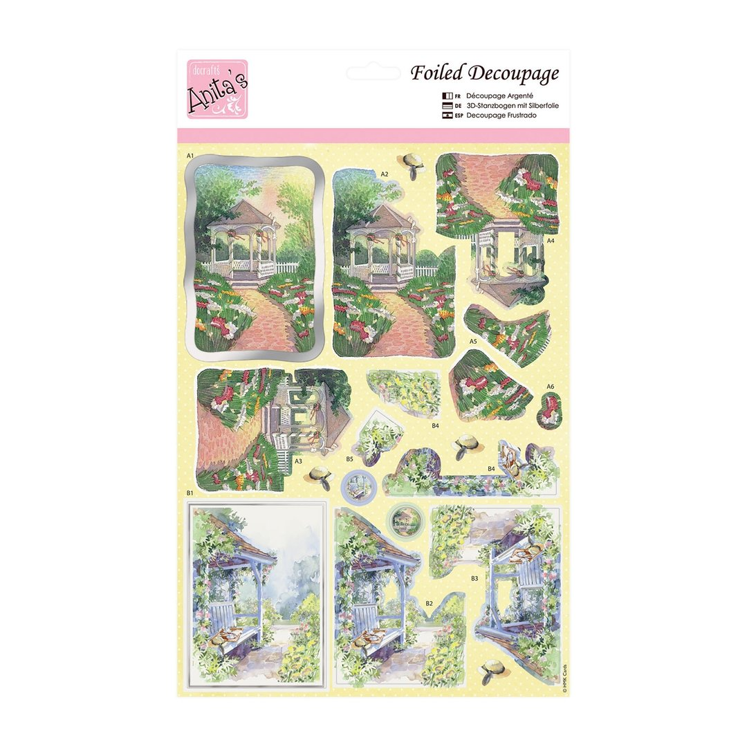 CHURCH FIELDS ANITAS FOILED DECOUPAGE FOR CARDS OR CRAFTS