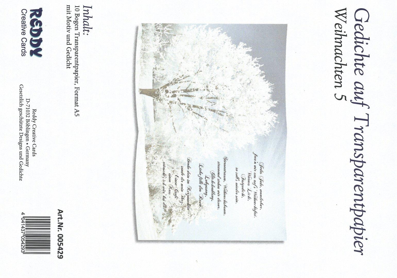 Gedichte auf Transparentpapier - Weihnachten 5 - (005429)