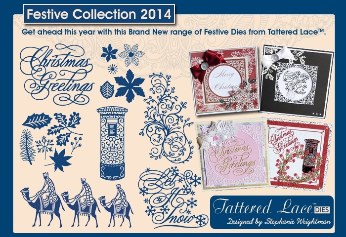 Die Tattered Lace Festive Collection 2014 - bei 3dkarten.eu - BENO Pfaffenhofen