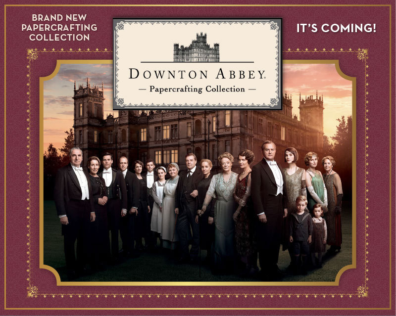Downton_Abbey - Die Bastelkollektion zur TV-Serie - mit Embossing-Foldern, Stanzschablonen und einer Papercrafting CD-Rom Box - in Kürze bei uns erhältlich !