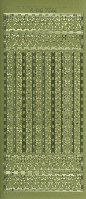 dd sticker weihnachtsrahmen baum 2 gold dd7046 basteln sie mit. Black Bedroom Furniture Sets. Home Design Ideas