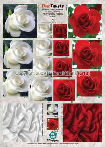 DT8037 - DUO TWIST - Anniversary Roses