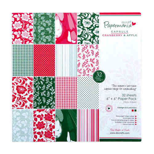 6X6 CAPSULE PAPER PACK (32PK) CRANBERRY & APPLE - (PMA 1607412)