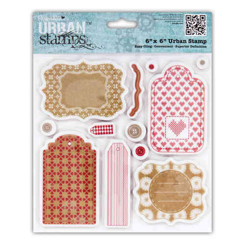 "6X6"" URBAN STAMP - HOME FOR CHRISTMAS (TAGS) (12PCS) - (PMA 907155)"