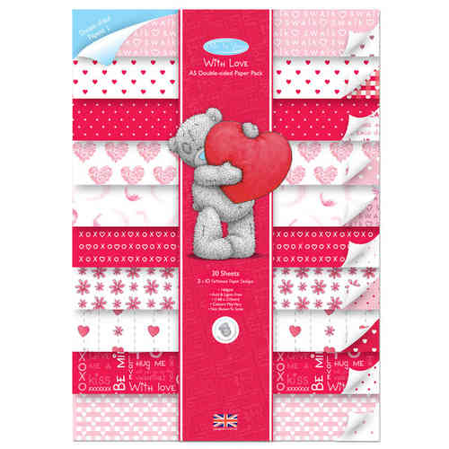 A5 Double Sided Paper Pack (30pk) Valentines - (MTY 160109)