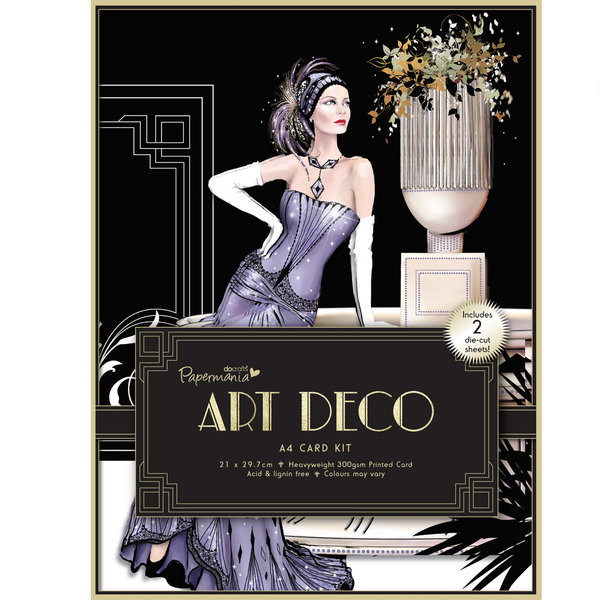 a4 card kit art deco pma 150636 basteln sie mit. Black Bedroom Furniture Sets. Home Design Ideas