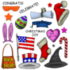 "Art Impressions Stempel - Mouthfuls ""Holiday"" - (CS 3285)"