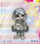 "Clear Stamp - ""Girl with Teddy"" - (Bloss03)"