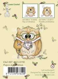 Clear Stamp - Owl popco at Christmas (55.8190)