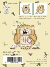 Clear Stamp - Owl twitke at Christmas (55.8213)