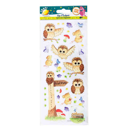 Woodland Fun Stickers (5pcs) - (WOO FUNSTICKER)