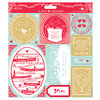 "8 x 8"" Die-cut Toppers (2pk) - 12 Days of Christmas - (PMA 157208)"