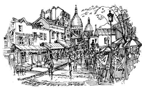 Montmartre - Craft Rubber Stamps by Art-Kure