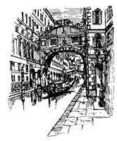 Bridge of Sighs - Craft Rubber Stamps by Art-Kure