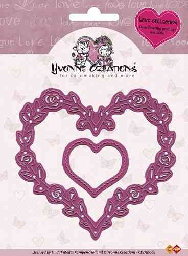 Yvonne Creations - Cut & Emboss Die - Love Hearts - (CDD 10004)