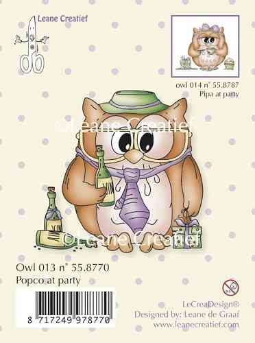 Clear Stamp - Owl Popco at party (LCR 55.8770)
