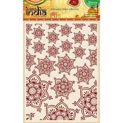 A Taste Of India A4 Embossing Folder Mandala X