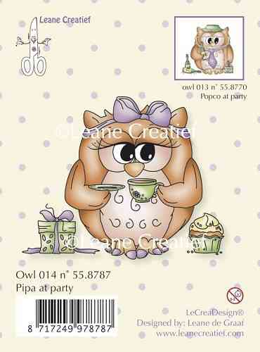 Clear Stamp - Owl Pipa at party (LCR 55.8787)