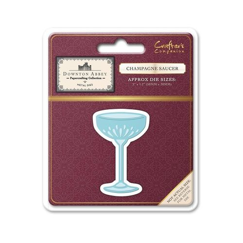 Downton Abbey - Stanzschablone - Champagne Saucer