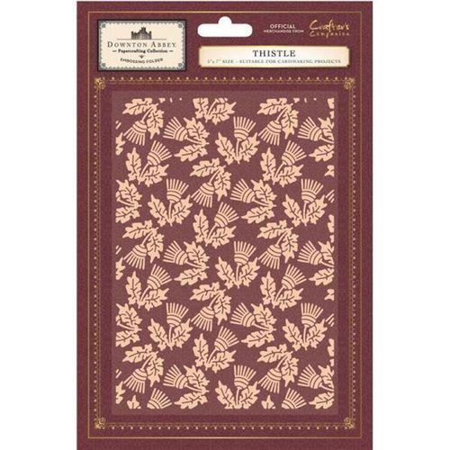"Downton Abbey - 5"" x 7"" Embossing Folder - Thistle"