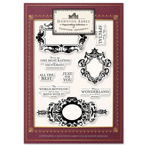 Downton Abbey - Clear Stamp Sentiments 2