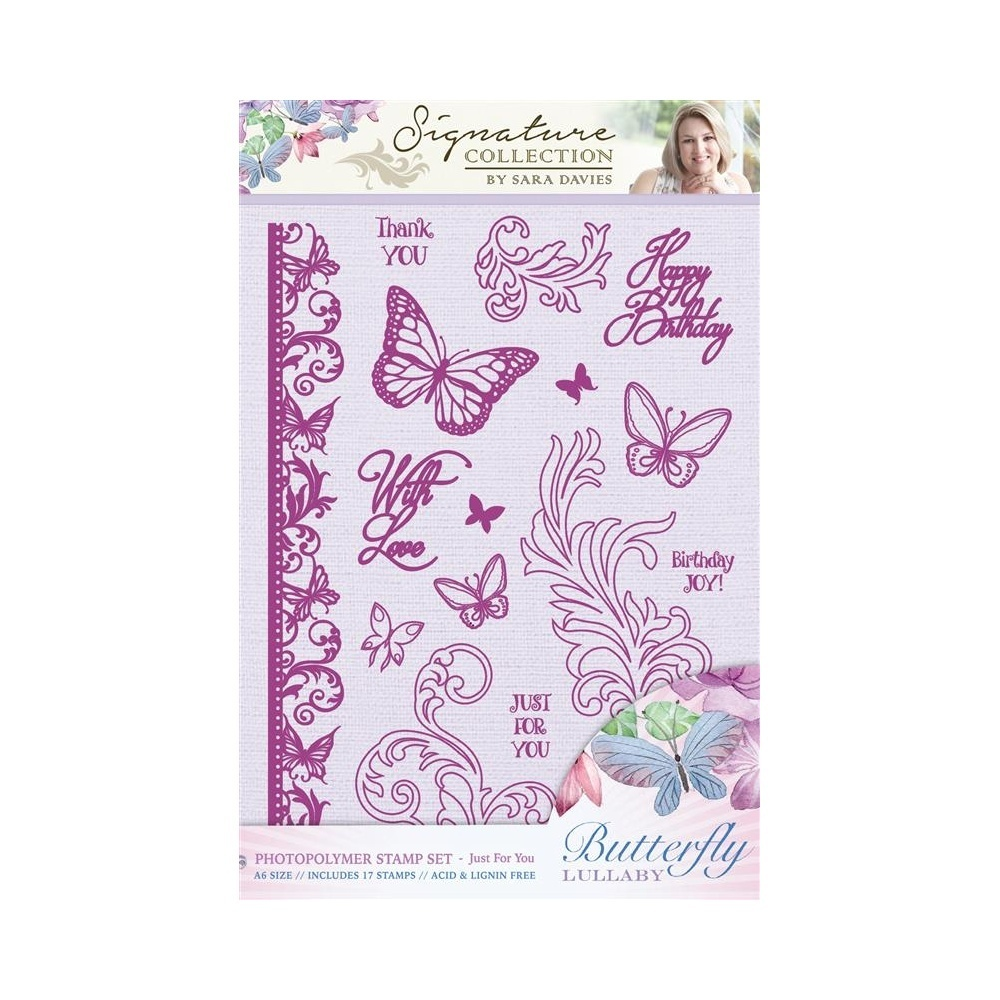 Sara Sign. Collection - Butterfly Lullaby Photopolymer A6 Stamp Set - Just for You