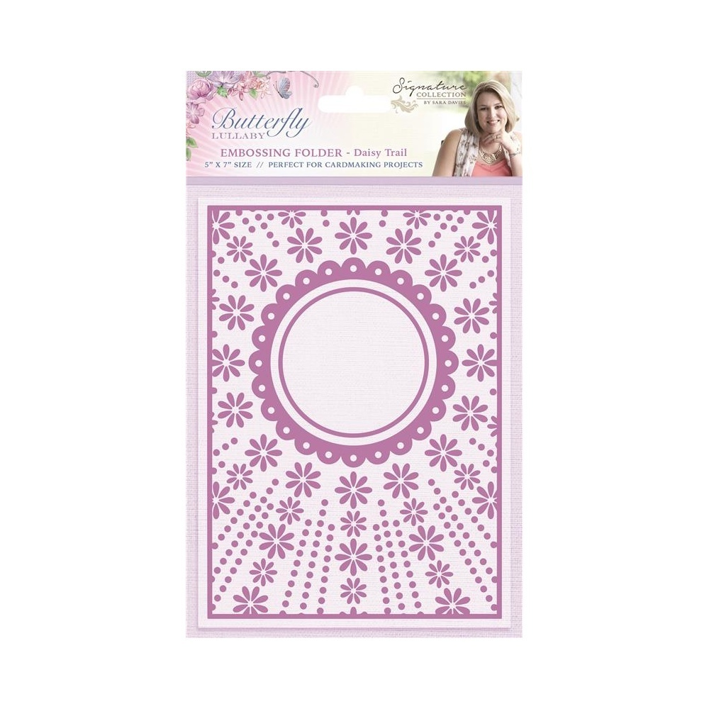 "Sara Sign. Collection - Butterfly Lullaby 5"" x 7"" Embossing Folder - Daisy Trail"
