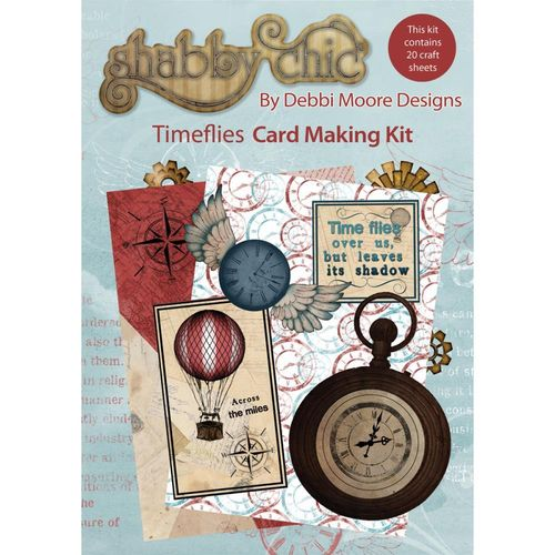 Time Flies - Shabby Chic Card Making Kit