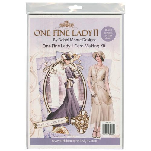 Art Deco - One Fine Lady 2 - Card Making Kit