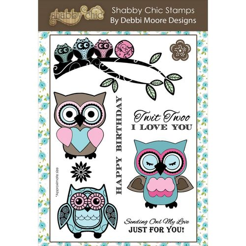 Debbi Moore Shabby Chic Clear Stamp Set - Owl