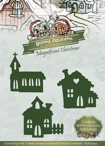 Die - Yvonne Creations - Magnificent Christmas - Little village