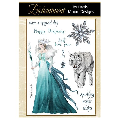 Debbi Moore Enchantment Clear Stamp Set - Ice Queen