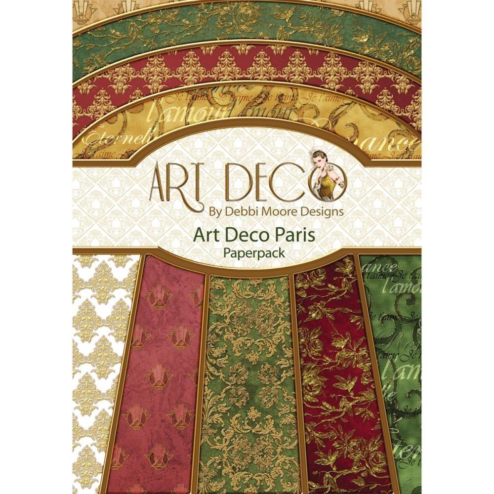 art deco paris a4 paperpack dmnp008. Black Bedroom Furniture Sets. Home Design Ideas